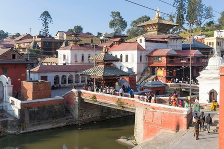 Pashupatinath hindu temple, listed as World Heritage by UNESCO, Kathmandu valley, Nepal.