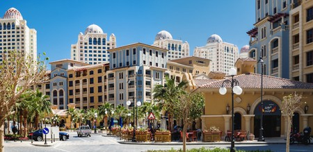 Central district of the Pearl in Doha, Qatar