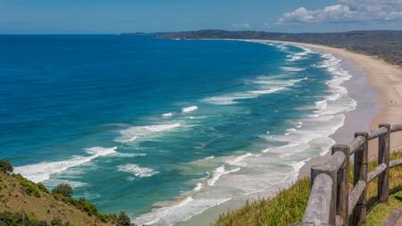 Byron Bay, New South Wales, Australia, Tallow Beach bordering Arakwal National Park, Cape Byron
