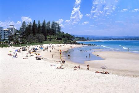 Coolangatta Beach, Coolangatta, City of Gold Coast, Queensland, Australia.