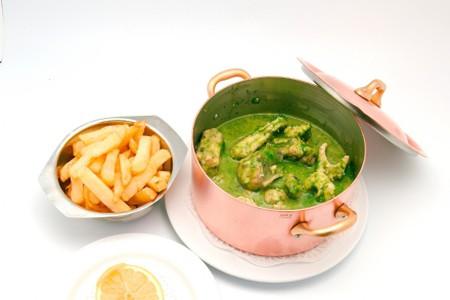 A seafood dish at Bij den Boer