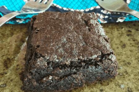 Gluten free brownie at Inzora Rooftop Cafe