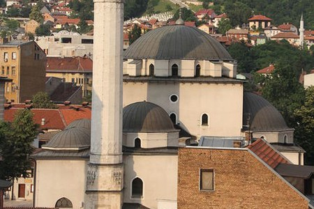 The Minaret of the Most Iconic Mosque in Sarajevo