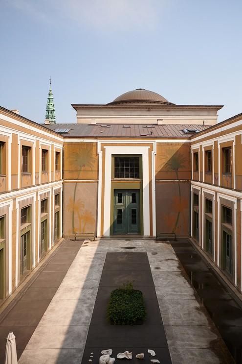 The Thorvaldsens Museum which houses the sculptures of Bertel Thorvaldsen, Copenhagen, Denmark, 2019.
