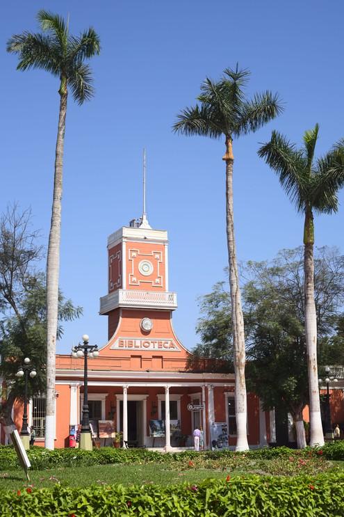The Biblioteca Municipal building in the Parque Municipal de Barranco, Peru.