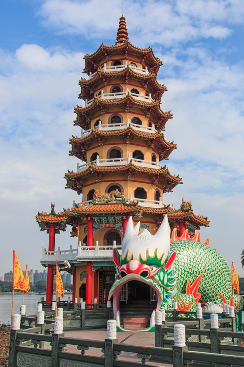 Dragon Pagoda at Lotus pond, Kaohsiung, Taiwan
