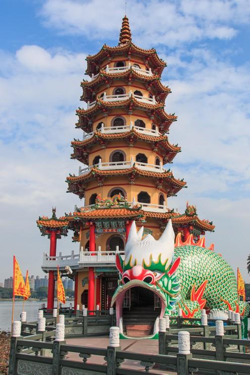 Dragon Pagoda at Lotus pond, Kaohsiung, Taiwan