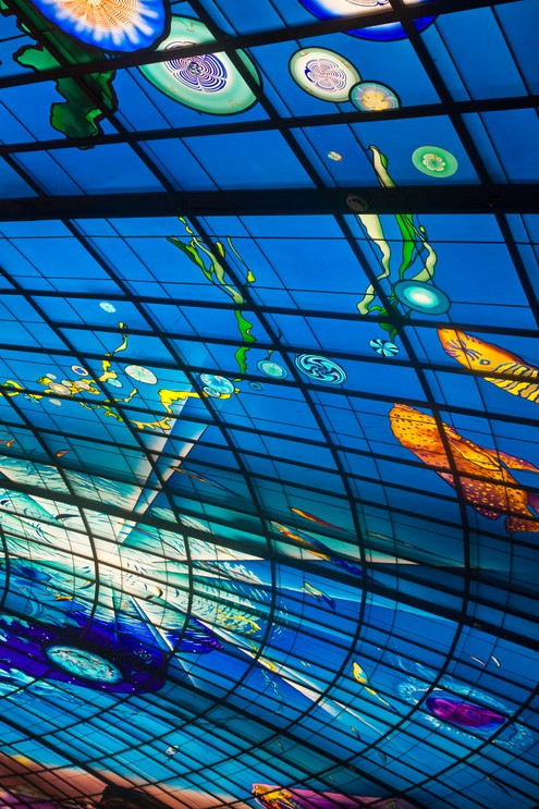 Dome of light at Formosa Boulevard Station, Kaohsiung, Taiwan.