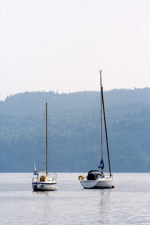 Two boats on Lake Windermere