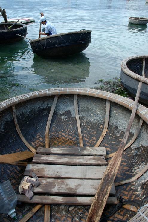 Bamboo basket boat