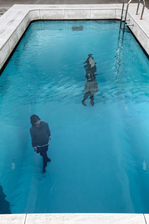 Art installation 'swimming pool' by Leandro Erlich at 21st Century Museum of Contemporary Art