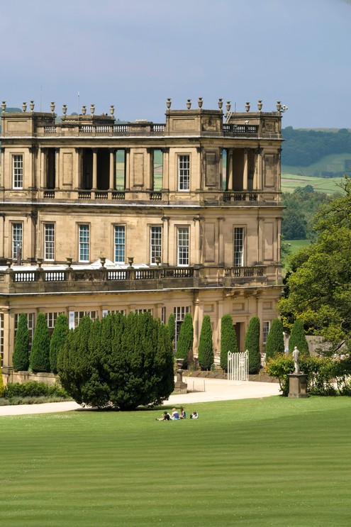 Tower of Chatsworth House, Derbyshire.