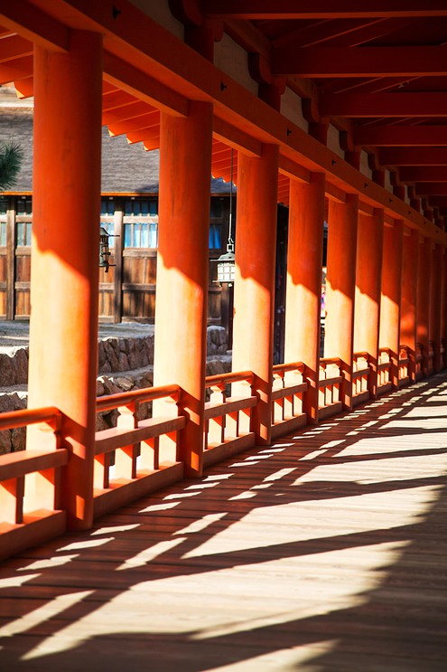 Itsukushima Shrine at Miyajima island, Japan