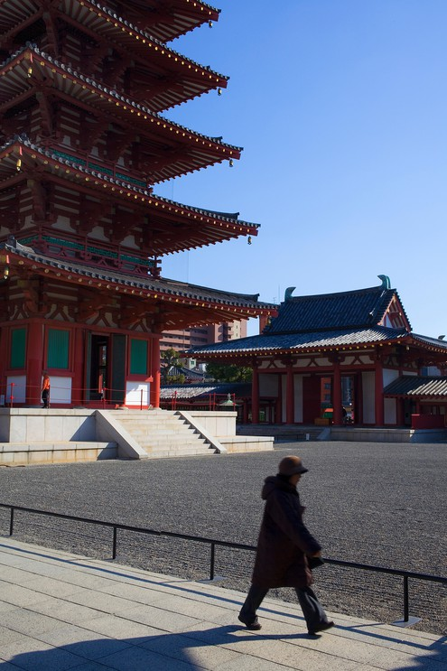 Exterior of Shitennoji Temple
