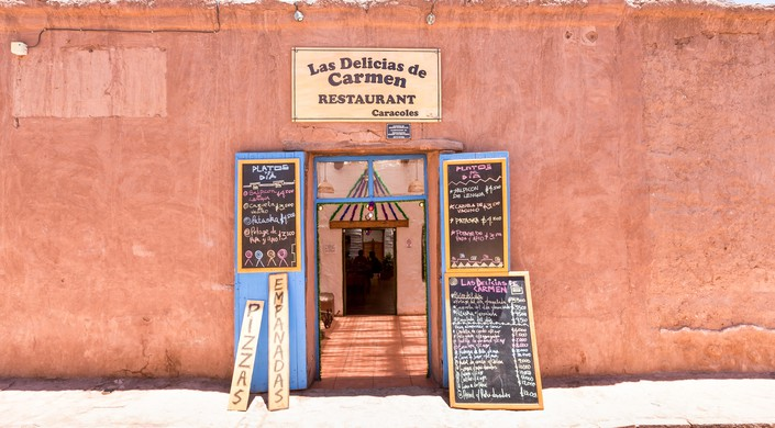 A restaurant in San Pedro de Atacama, Chile, South America