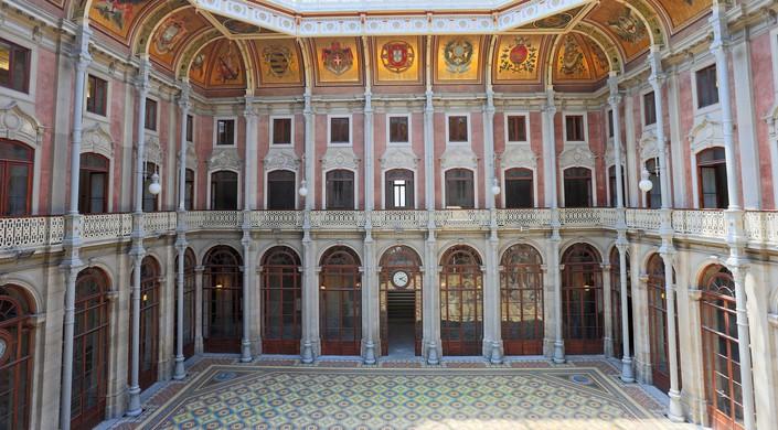 The Palacio da Bolsa is a historical building in Porto, Portugal.