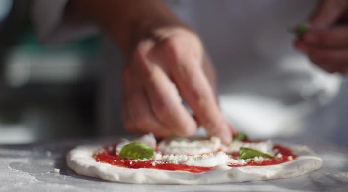 Chef Making Pizza