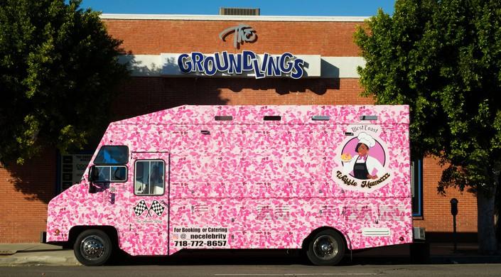 Food truck, Melrose Avenue, Los Angeles, California, United States of America