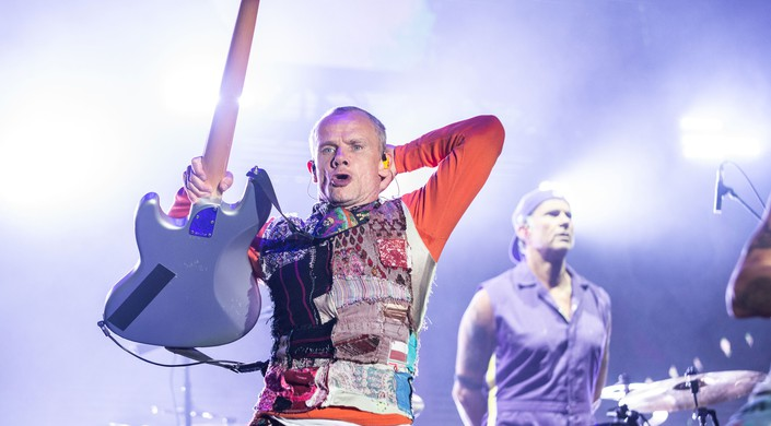Bassist Flea of Red Hot Chili Peppers performs live during Ohana Festival GettyImages-1178123526