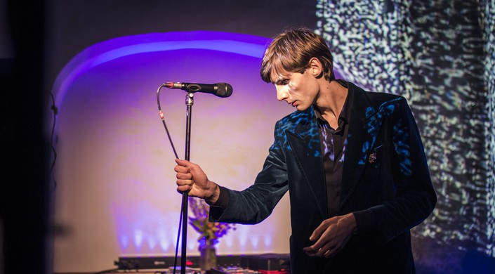 Mart Avi performs live on stage at Tallinn Music Week 2021