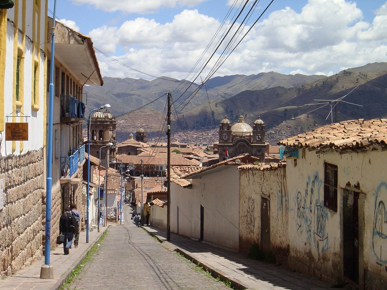 Looking down Calle Suecia towards the Plaza de Armas, Cusco © Robert Cutts/Flickr