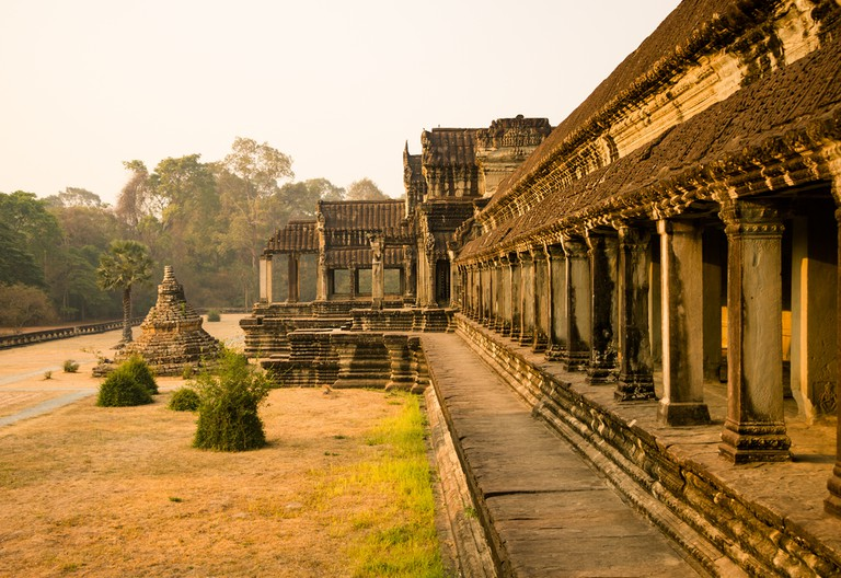 The Angkor Wat is a temple complex in Cambodia and the largest religious monument in the world