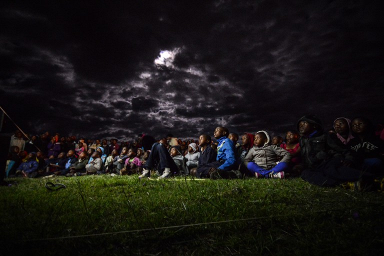 A moonlit screening in Mohale's Hoek, a town in the south of Lesotho | © Meri Hyöky Photography