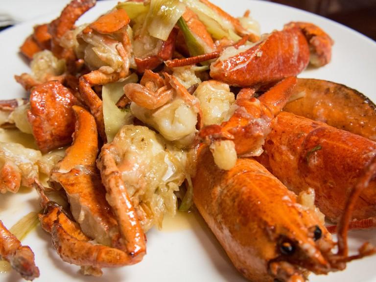 Lobster in ginger and scallion sauce   © Edsel Little/Flickr
