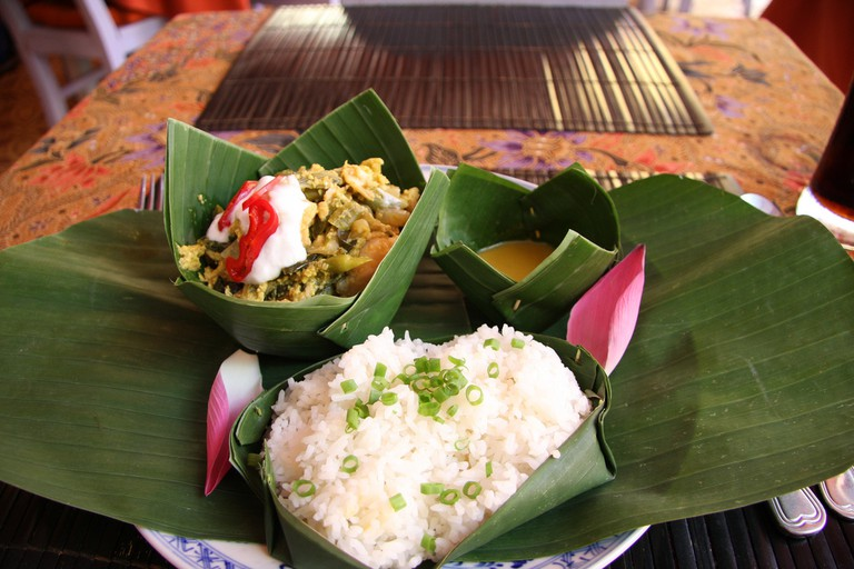 Fish amok, a Khmer speciality