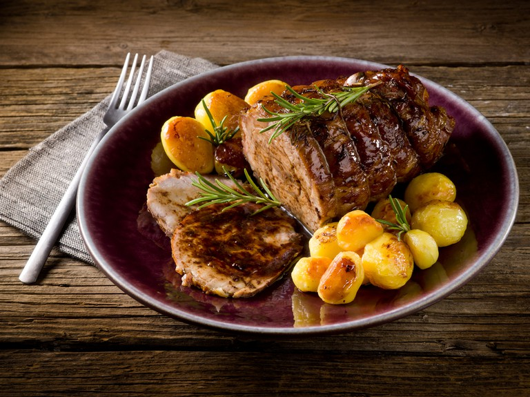 Portuguese steak served with potatoes