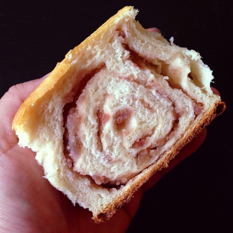 Taro swirl Hokkaido milk bread ©Joy