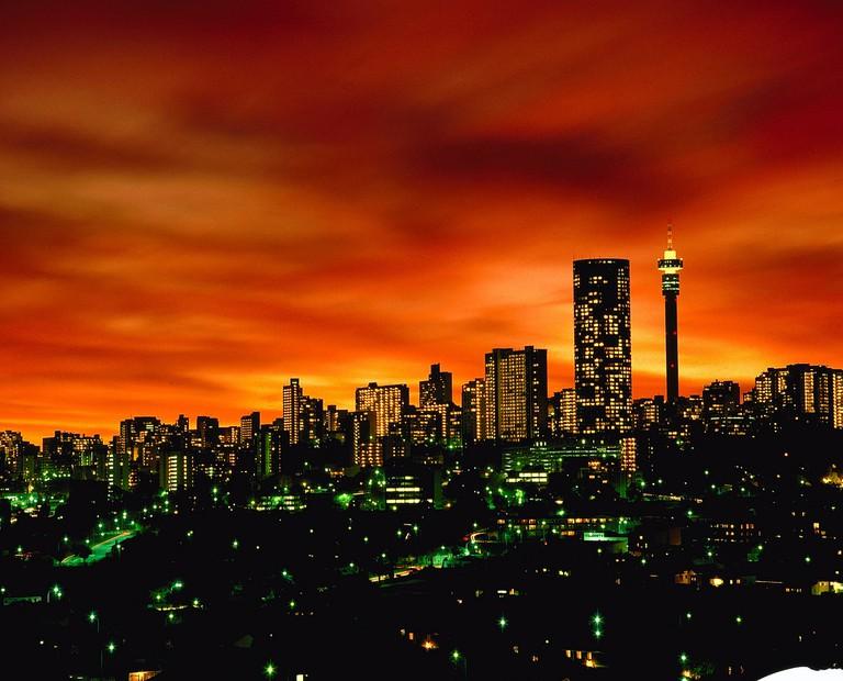 The impressive Johannesburg skyline