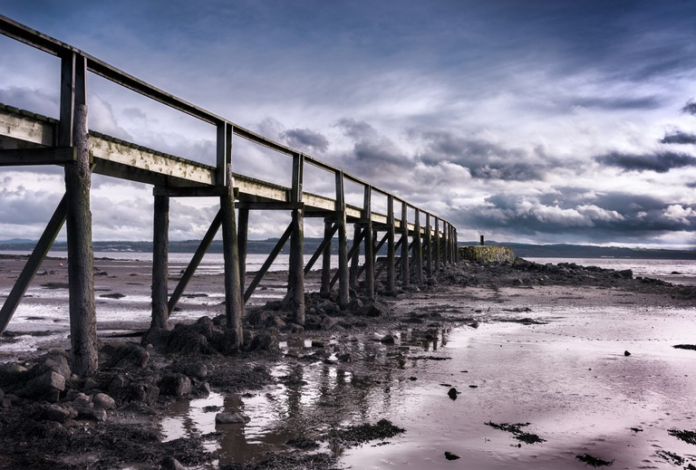The wooden pier at Culross Beach ©Neil Williamson