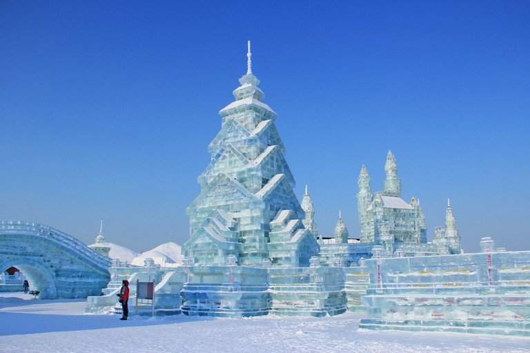 The fairy-tale Ice and Snow World, Harbin, China © Haobo Wang / Shutterstock