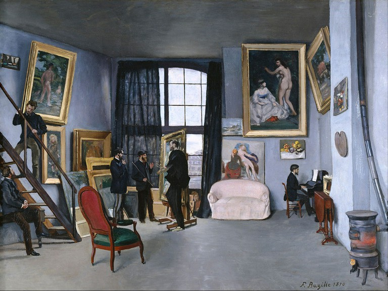 Frédéric Bazille - Bazille's Studio - Google Art Project | ©cAF7KPVs5G2guA at Google Cultural Institute/WikiCommons