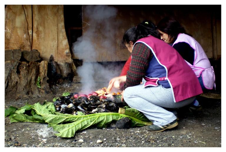 Curanto en Hoyo, Chile