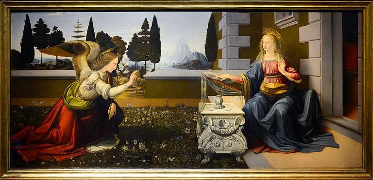 Leonardo da Vinci and Andrea del Verrocchio, 'Annunciation'/©WikiCommons