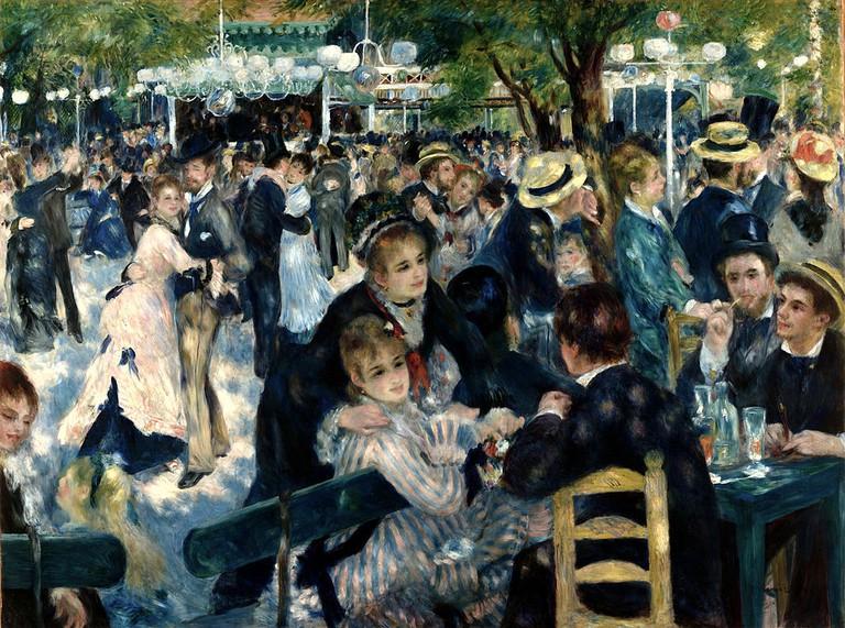 Auguste Renoir - Dance at Le Moulin de la Galette - Musée d'Orsay RF 2739 (derivative work - AutoContrast edit in LCH space) | © WikiCommons