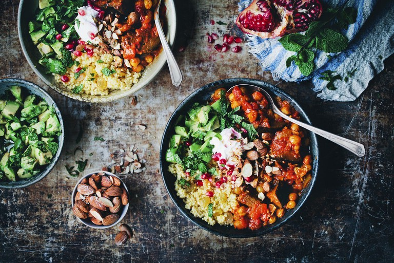 Moroccan Aubergine and Chickpea Stew | © Courtesy of Green Kitchen Stories