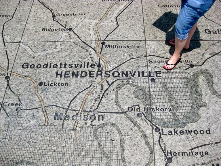 Hendersonville Map © CJ Sorg
