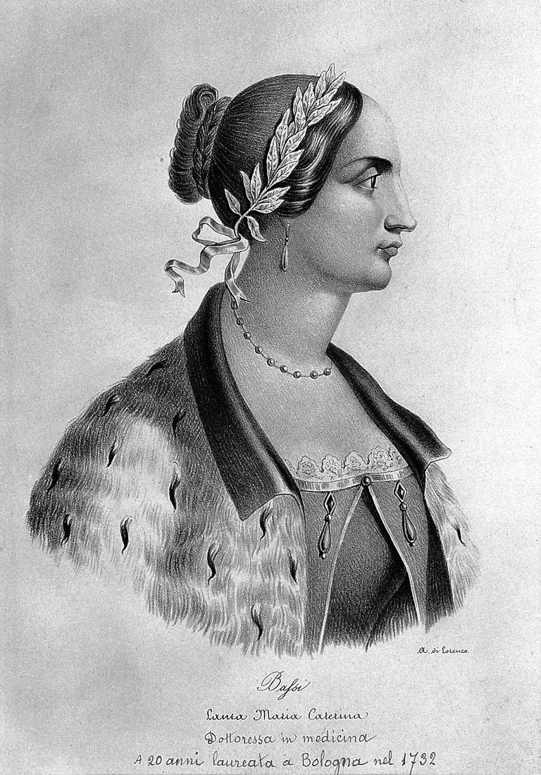 Laura Maria Caterina Bassi, 1711-78 © Wikimedia commons