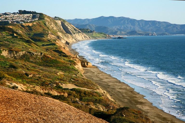 Northern California cliffs near Daly City in Northern California