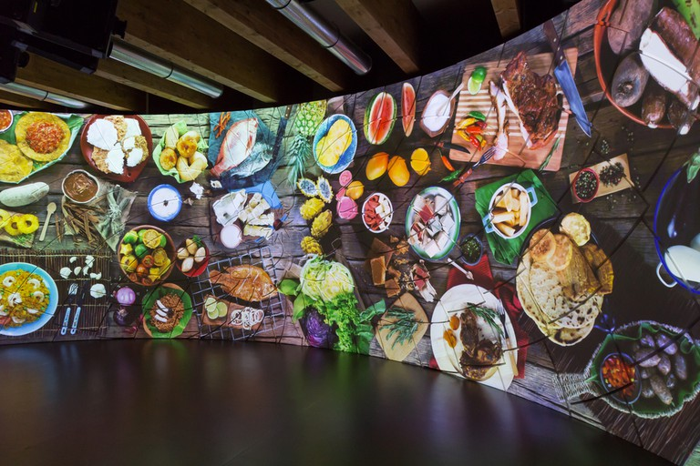 Inside Colombia pavilion at Expo, universal exposition on the theme of food ©Tinxi / Shutterstock