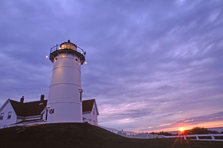 Nobska Point Lighthouse at sunset, Woodshole| ©Masstravel/Flickr