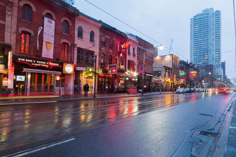 Buildings along King Street East at twlight showing various buildings ©Mikecphoto / Shutterstock
