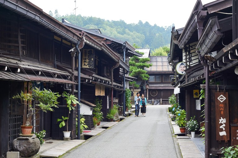 The well preserved old town of Hida-Takayama