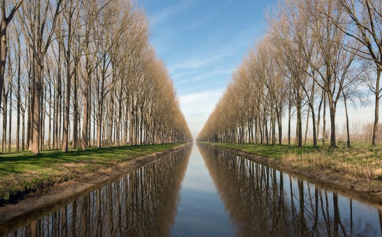 Damse Vaart canal in the village of Damme near Bruges in Belgium ©Anneka / Shutterstock