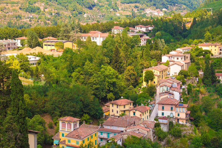 Barga village in Tuscany, Italy