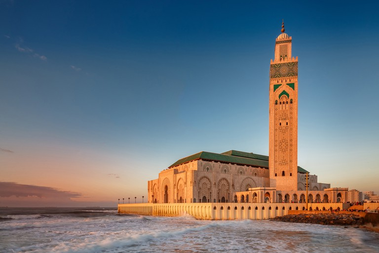 The Hassan II Mosque is the largest mosque in Morocco