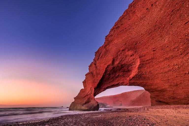 Red arches of Legzira beach, Sidi Ifni, Souss-Massa-Draa, Morocco ©Ruslan Kalnitsky / Shutterstock